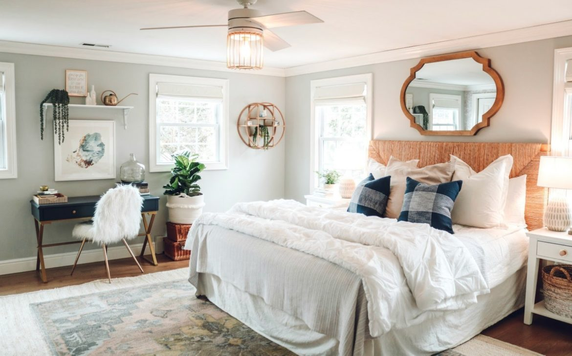 Making a bedroom office comfortable