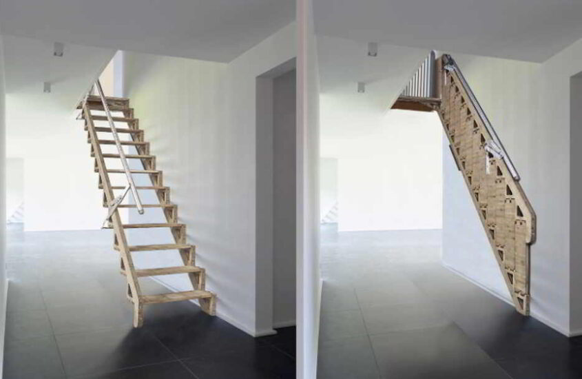 6 Awesome Folding Stairs Ideas